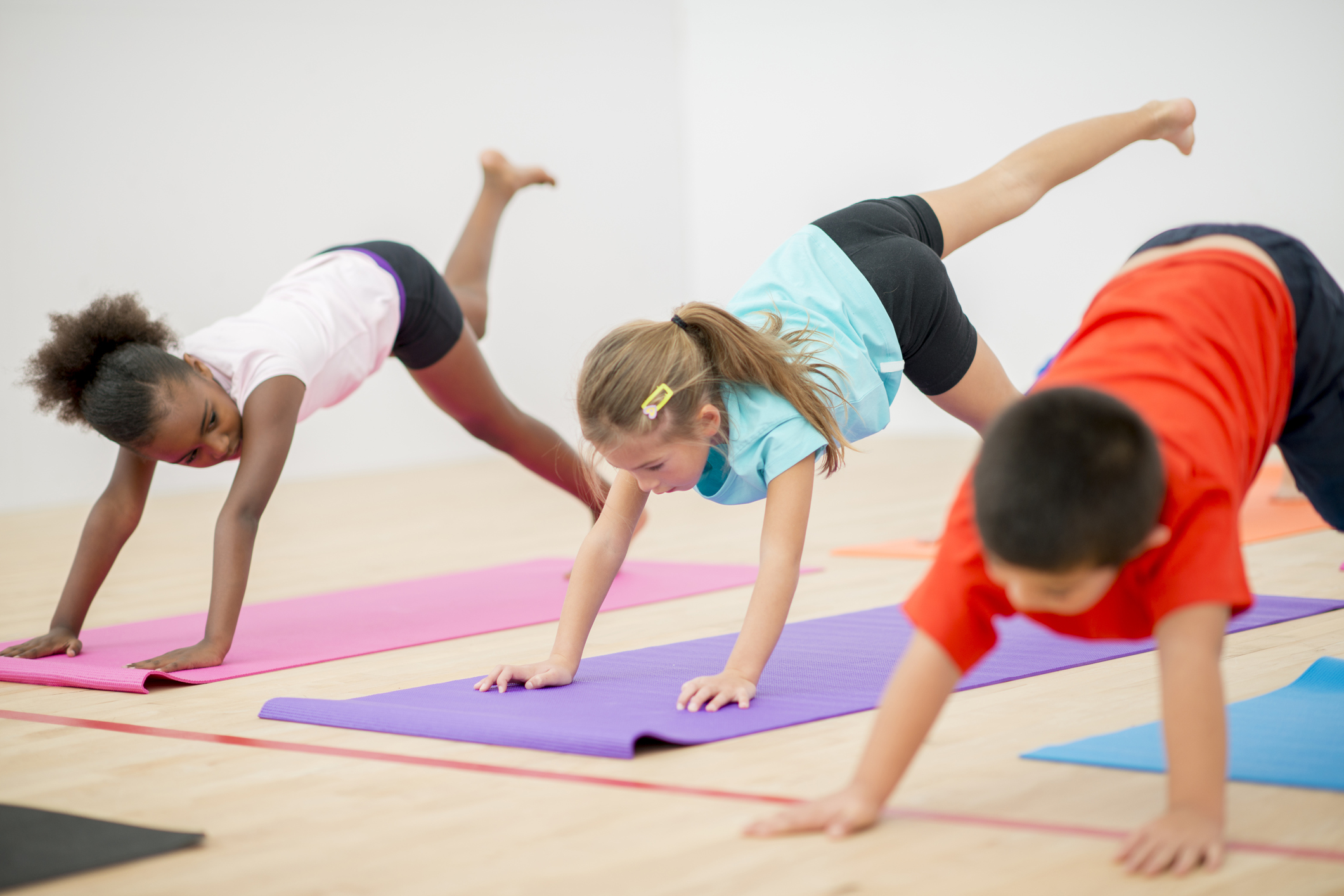 image of kids in p.e. class